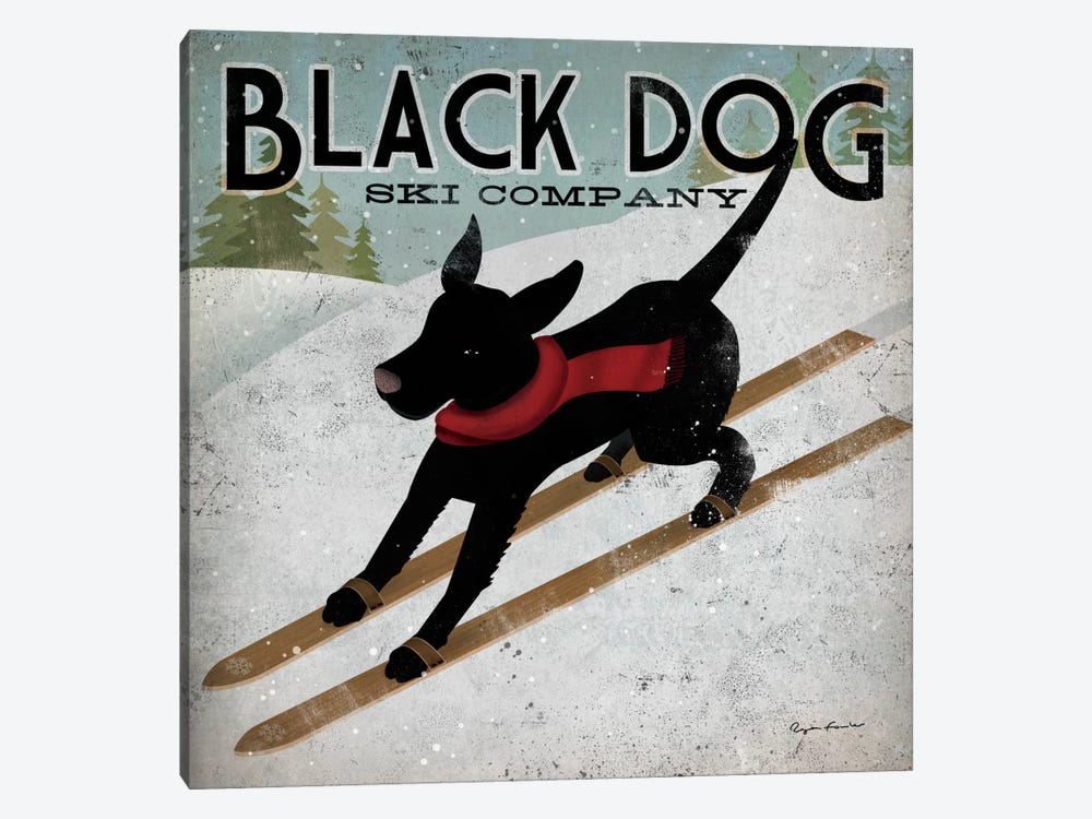 Black Dog Ski Co. II by Ryan Fowler 1-piece Canvas Artwork