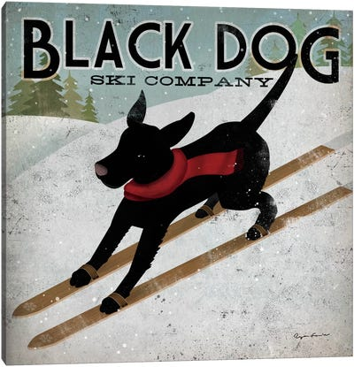 Black Dog Ski Co. II Canvas Art Print