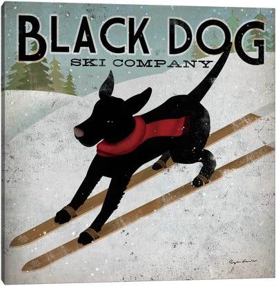 Black Dog Ski Co. II Canvas Art Print