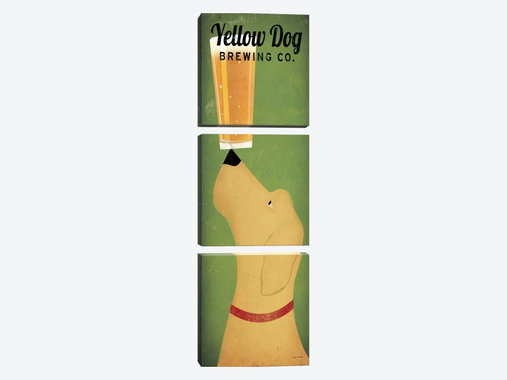 Yellow Dog Brewing Co. by Ryan Fowler 3-piece Canvas Wall Art