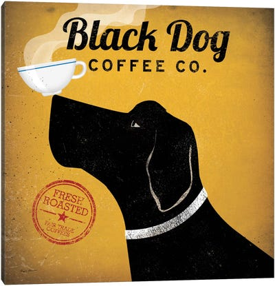 Black Dog Coffee Co. Canvas Print #WAC1119