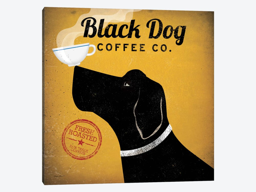 Black Dog Coffee Co. by Ryan Fowler 1-piece Canvas Art Print