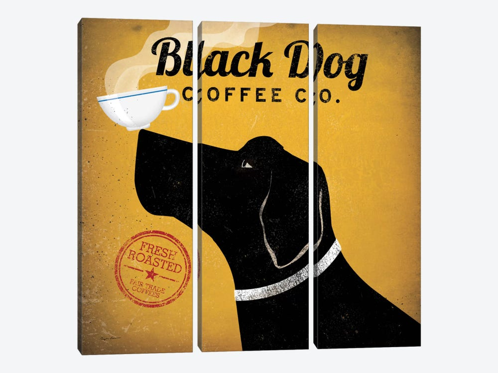 Black Dog Coffee Co. by Ryan Fowler 3-piece Canvas Print