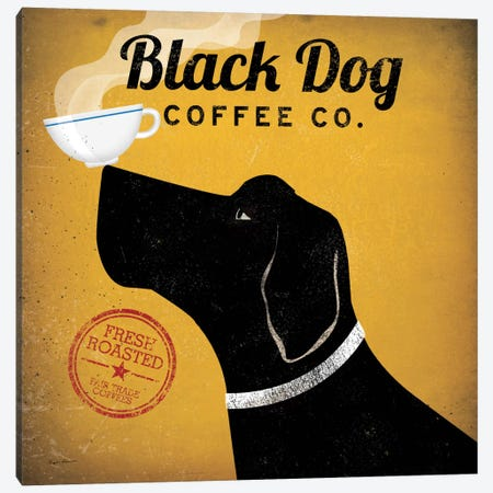 Black Dog Coffee Co. Canvas Print #WAC1119} by Ryan Fowler Art Print