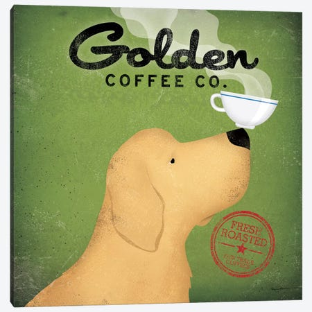 Golden Coffee Co. Canvas Print #WAC1120} by Ryan Fowler Canvas Artwork