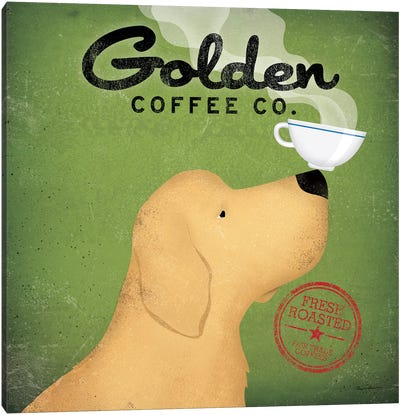 Golden Coffee Co. Canvas Art Print
