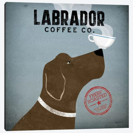 Labrador Coffee Co. Canvas Print #WAC1121} by Ryan Fowler Canvas Wall Art