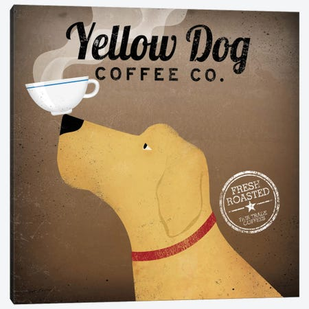 Yellow Dog Coffee Co. Canvas Print #WAC1122} by Ryan Fowler Canvas Art
