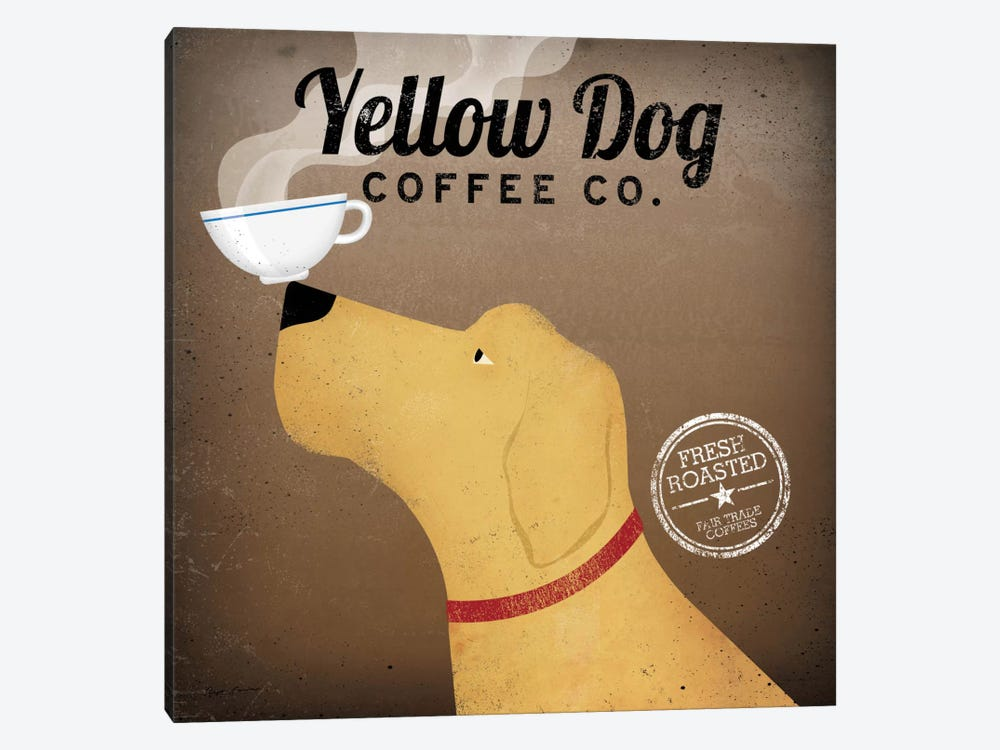 Yellow Dog Coffee Co. by Ryan Fowler 1-piece Art Print