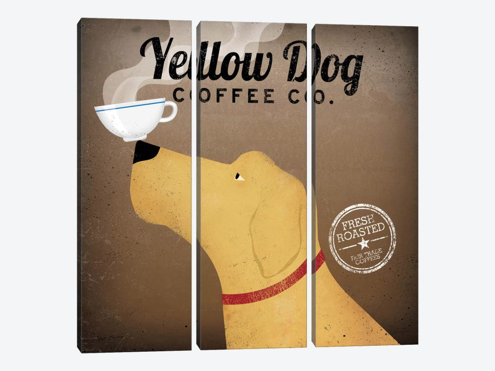 Yellow Dog Coffee Co. by Ryan Fowler 3-piece Canvas Print
