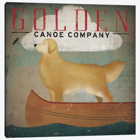 Golden Canoe Co.  Canvas Print #WAC1124} by Ryan Fowler Canvas Print