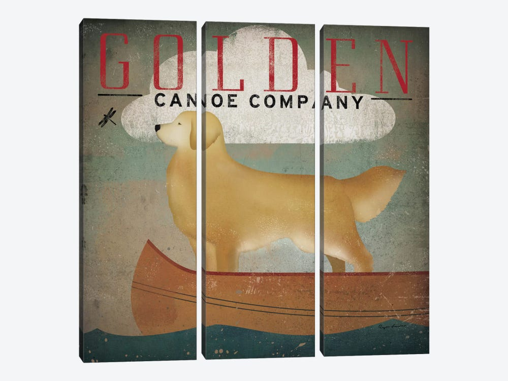 Golden Canoe Co. by Ryan Fowler 3-piece Canvas Print