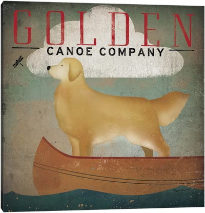 Golden Canoe Co.  Canvas Art Print
