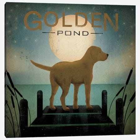 Golden Pond Canvas Print #WAC1126} by Ryan Fowler Canvas Print