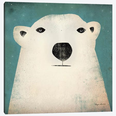 Polar Bear  Canvas Print #WAC1129} by Ryan Fowler Canvas Artwork