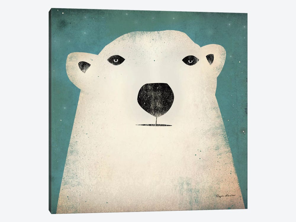 Polar Bear  by Ryan Fowler 1-piece Canvas Artwork
