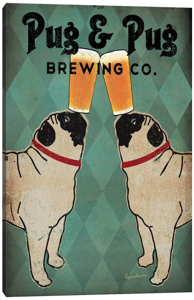 Pug & Pug Brewing Co. Canvas Art Print
