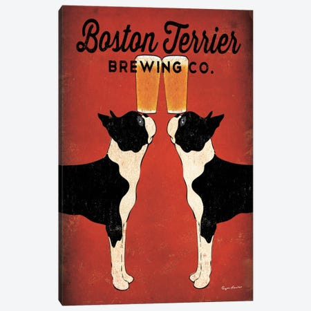 Boston Terrier Brewing Co.  Canvas Print #WAC1133} by Ryan Fowler Canvas Print