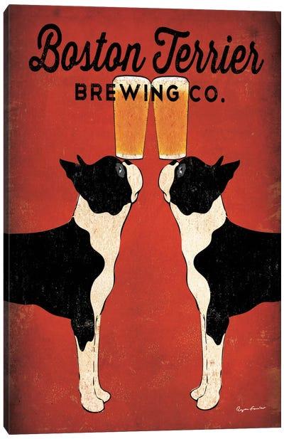 Boston Terrier Brewing Co.  Canvas Art Print