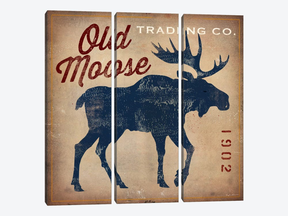 Old Moose Trading Co. by Ryan Fowler 3-piece Canvas Wall Art