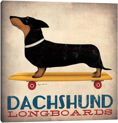 Dachshund Longboards Canvas Print #WAC1136