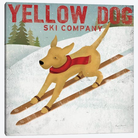 Yellow Dog Ski Co. Canvas Print #WAC1137} by Ryan Fowler Canvas Artwork
