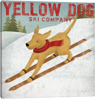 Yellow Dog Ski Co. Canvas Art Print