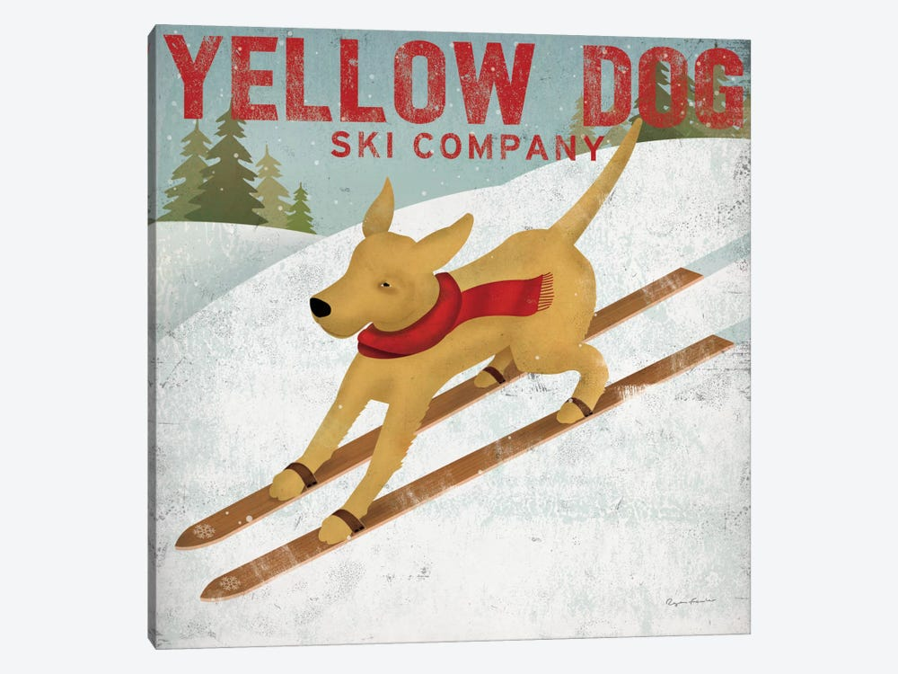 Yellow Dog Ski Co. by Ryan Fowler 1-piece Art Print