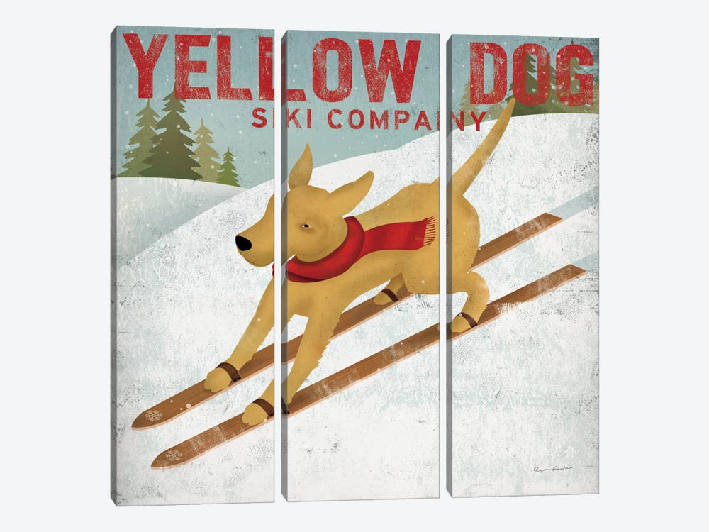 Yellow Dog Ski Co. by Ryan Fowler 3-piece Canvas Print