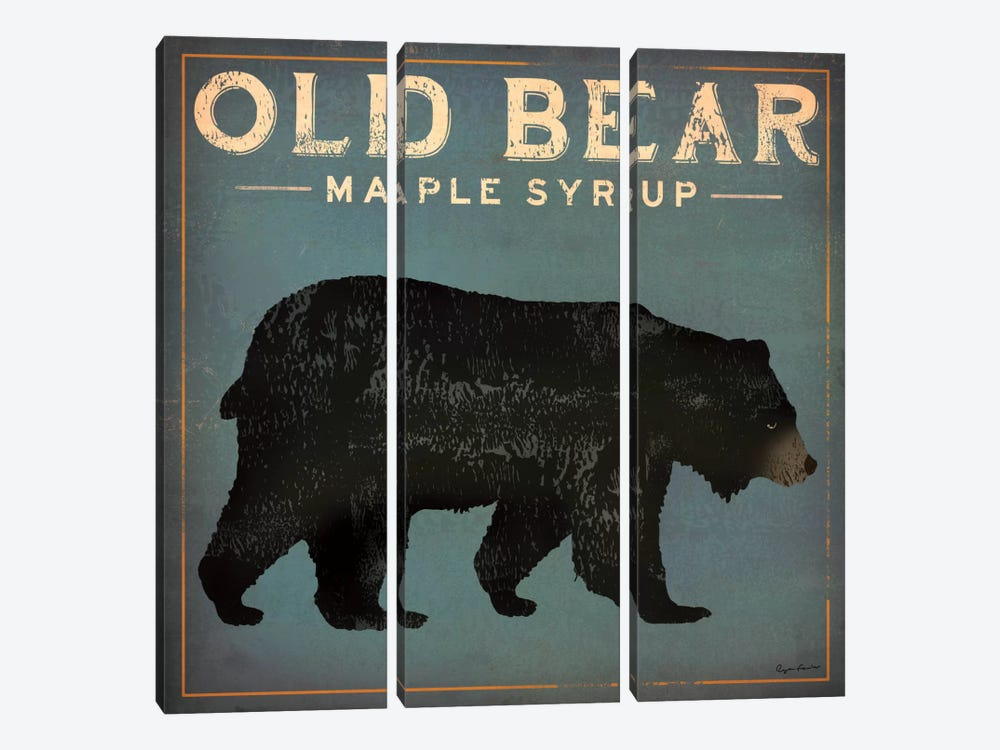 Old Bear Maple Syrup by Ryan Fowler 3-piece Canvas Artwork