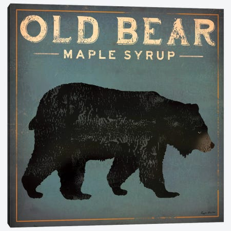Old Bear Maple Syrup Canvas Print #WAC1138} by Ryan Fowler Canvas Print