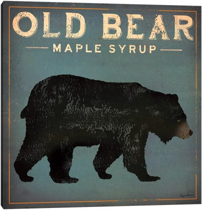 Old Bear Maple Syrup Canvas Print #WAC1138