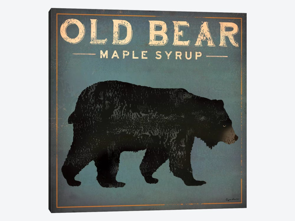 Old Bear Maple Syrup by Ryan Fowler 1-piece Canvas Art