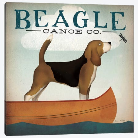 Beagle Canoe Co.  Canvas Print #WAC1139} by Ryan Fowler Art Print