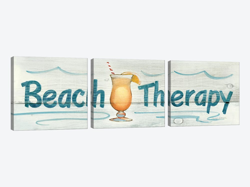 Beach Therapy in Color by Avery Tillmon 3-piece Canvas Print