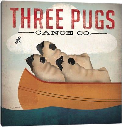Three Pugs Canoe Co. Canvas Art Print