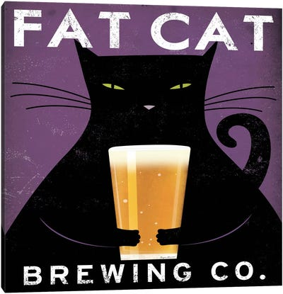 Fat Cat Brewing Co. Canvas Art Print