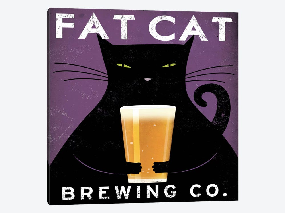 Fat Cat Brewing Co. by Ryan Fowler 1-piece Canvas Artwork