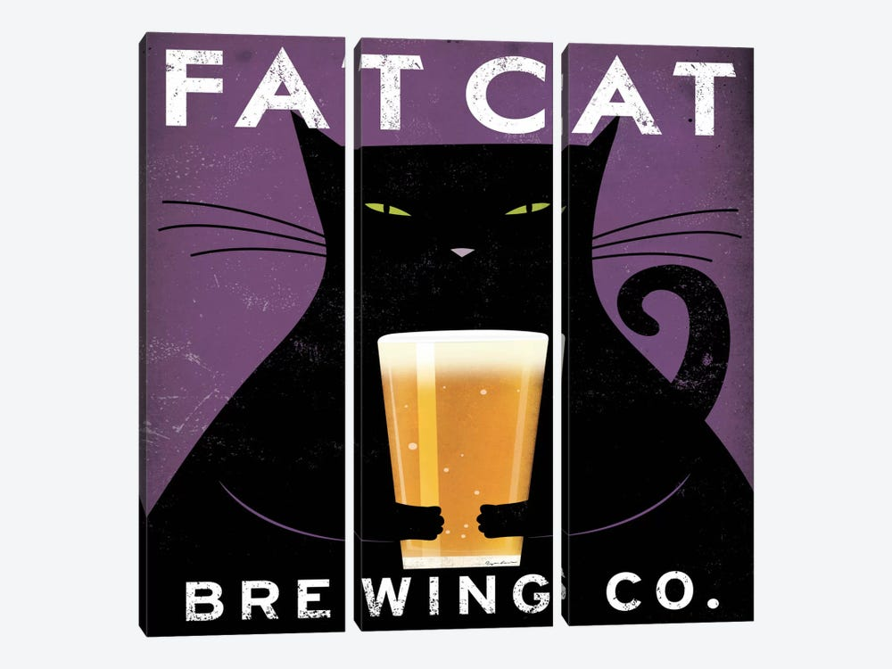 Fat Cat Brewing Co. by Ryan Fowler 3-piece Canvas Artwork