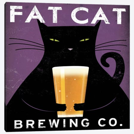Fat Cat Brewing Co. 3-Piece Canvas #WAC1143} by Ryan Fowler Canvas Artwork
