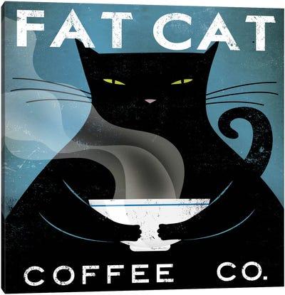 Fat Cat Coffee Co. Canvas Art Print