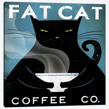 Fat Cat Coffee Co. Canvas Print #WAC1144} by Ryan Fowler Canvas Art Print