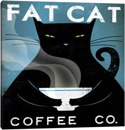 Fat Cat Coffee Co. Canvas Art Print