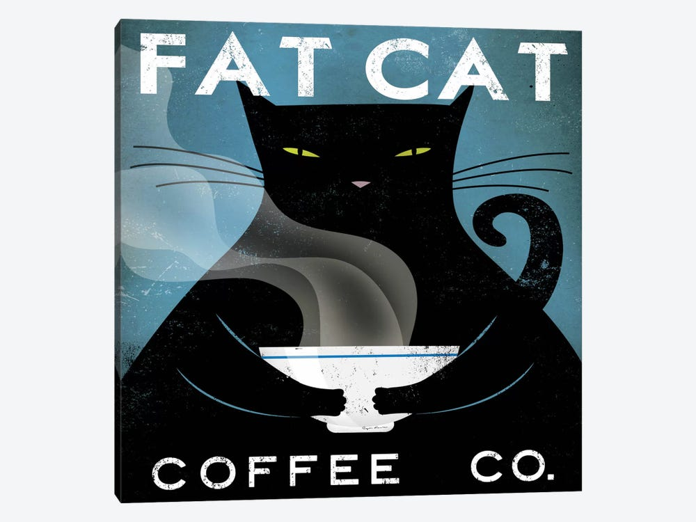 Fat Cat Coffee Co. by Ryan Fowler 1-piece Canvas Print
