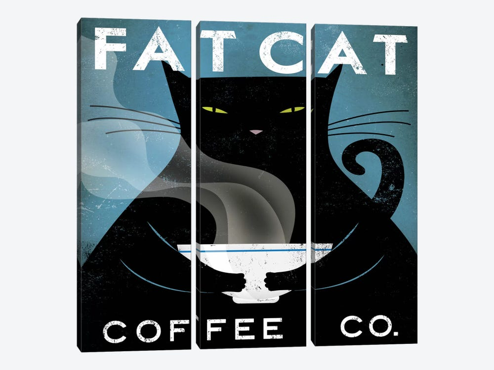 Fat Cat Coffee Co. by Ryan Fowler 3-piece Art Print