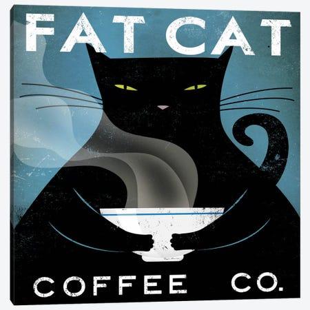 Fat Cat Coffee Co. Canvas Print #WAC1144} by Ryan Fowler Canvas Art Print