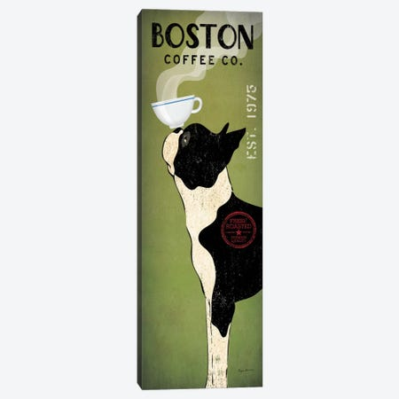 Boston Terrier Coffee Co. Canvas Print #WAC1146} by Ryan Fowler Canvas Art Print