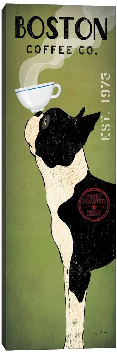 Boston Terrier Coffee Co. Canvas Art Print