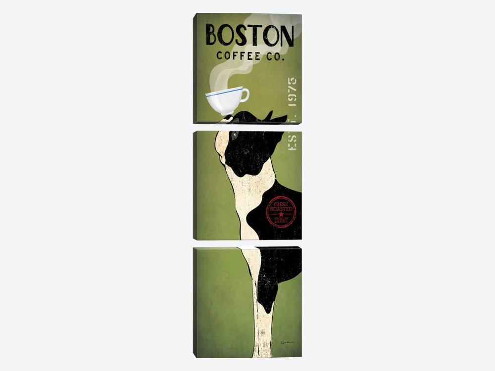 Boston Terrier Coffee Co. by Ryan Fowler 3-piece Art Print