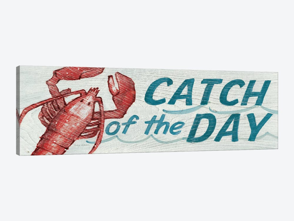 Catch of the Day in Color 1-piece Canvas Art